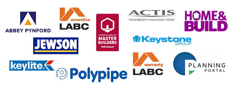 LABC Sponsors: Abbey Pynford, LABC Acoustics, Actis, FMB, Home&Build, Jewson, Keylite, Planning Portal, Polypipe, Swiftclean, LABC Warranty