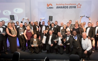 LABC South West Building Excellence Awards 2018 - picture of the winners