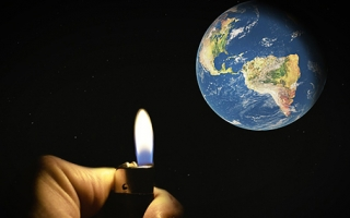Picture of a lighter with earth in background - insulating challenges