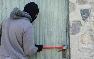 Thief breaking into home